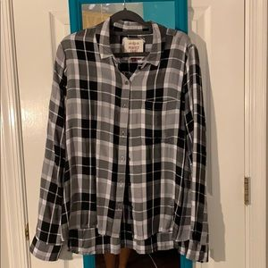 Juniors SO relaxed fit flannel shirt